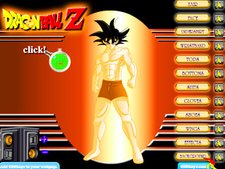 เกมส์ Ultimate Dragon Ballz Dress Up