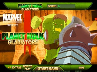 เกมส์ Planet Hulk Gladiators