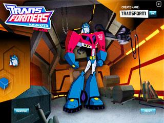 เกมส์ Transformers Robot Builder