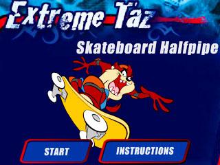 เกมส์ Extreme Taz Skateboard Halfpipe