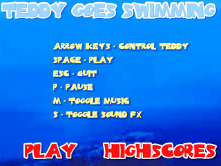 เกมส์ Teddy Goes Swimming