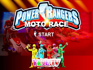 เกมส์ Power Rangers Moto Race