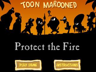 เกมส์ Toon Marooned. Protect The Fire