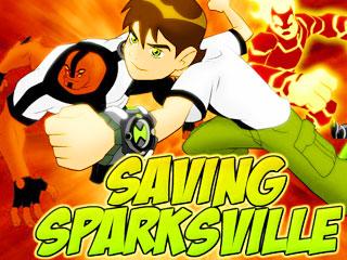 เกมส์ Ben 10 Saving Sparksville