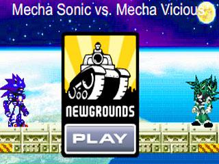 เกมส์ Mecha sonic vs cyber mecha vicious