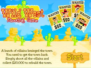 เกมส์ Wild west shooting
