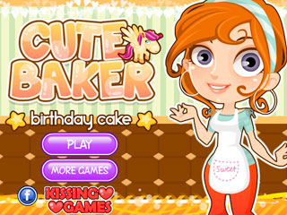 เกมส์ Cute Baker Birthday Cake