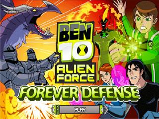 เกมส์ Ben 10 - Forever Defense