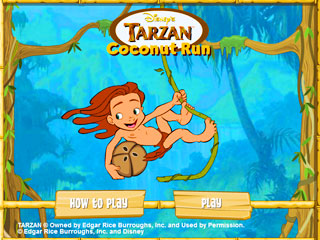 เกมส์ Tarzan Coconut Run