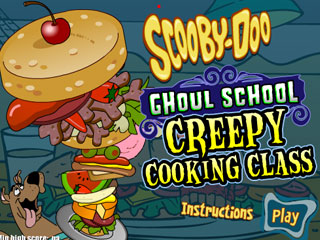 เกมส์ Scooby Doo ghoul school - Creepy cooking class