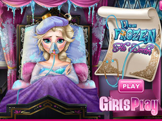 เกมส์ Elsa Frozen Flu Doctor