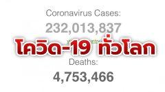 อเมริกาตายจากโควิดครบ 7 แสนคน ติดเชื้อสะสมรวมทั่วโลกทะลุ 232 ล้าน ไทยกลับเข้า Top10