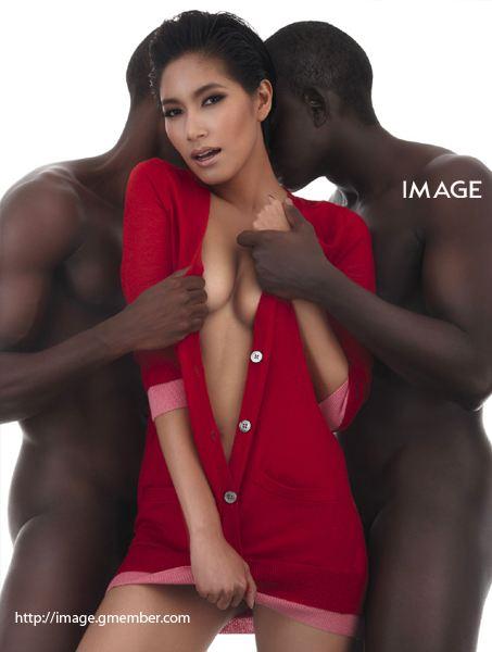'ดำ' ทรงเสน่ห์แบบ เบนซ์ พรชิตา IMAGE MAGAZINE October2010