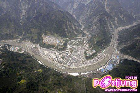เมืองตู้เจียงหยานของจีน หลังแผ่นดินไหวใหญ่ 3ปีที่แล้ว