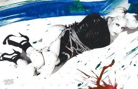 หลุด! ภาพโป๊ เลดี้ กาก้า เบื้องหลังการถ่ายนิตยสาร