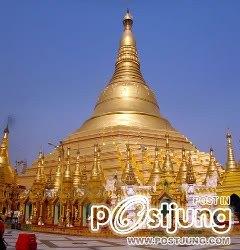 4 - The Shwedagon Paya (or Pagoda), Myanmar     พระ
