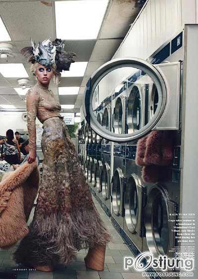 เลดี้ กาก้า แฟชั่น Lady Gaga For Elle Magazine (January 2012)  ภาพแฟชั่น จาก นิตยสาร ELLE