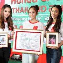 มิน-พีชญา / ใหม่-ดาวิกา / ขวัญ-อุษามณี @  งานเเถลงข่าว Honda LPGA Thailand 2012