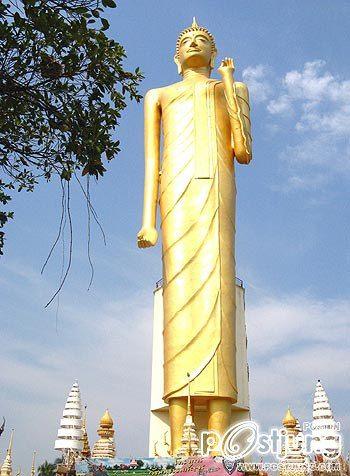 หลวงพ่อใหญ่ร้อยเอ็ด พระพุทธรูปปางประทานพรที่สูงที่สุดในโลก