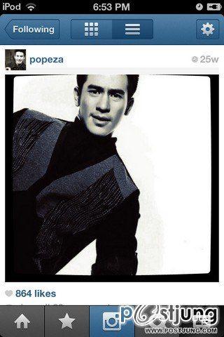 โป๊ป ธนวรรธน์ Instagram หล่อสุดใจ <3