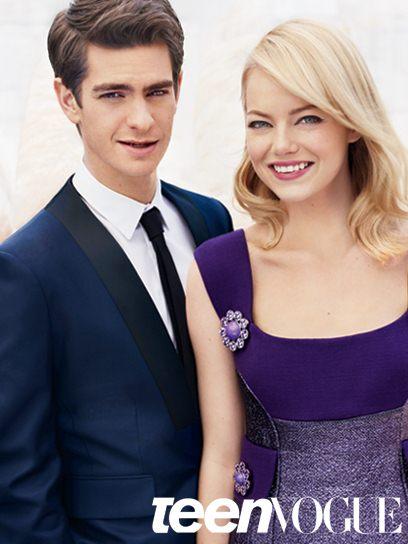 Emma Stone & Andrew Garfield @ Teen Vogue August 2012