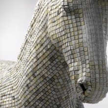 A Horse Made of Computer Keys by Babis Cloud