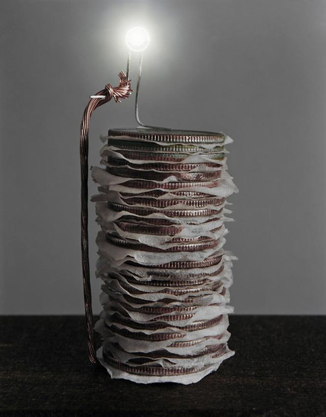 Photographer Caleb Charland Wires Apple Trees, Fruit Baskets and Stacked Coins to Create Alternative