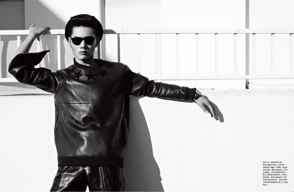 Hou Jinxiang @ Numéro Homme China # 6 Winter 2012