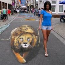 Art: Nikolaj Arndt - 3D Sidewalk Art