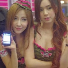 สวยใส พริตตี้จาก Thailand Game Show 2013