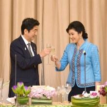 ภาพนายกรัฐมนตรีญี่ปุ่นเยือนไทยเป็นครั้งแรกในรอบ11ปี