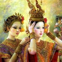 หญิงไทยแท้ๆ ภาพวาด