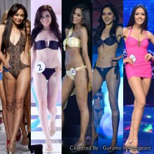 Asean Beauty Team in Swimsuit ... (Indonesia, Malaysia, Philippines, Singapore and Thailand)
