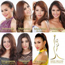 Asean Beauty Team for Miss Grand International 2013