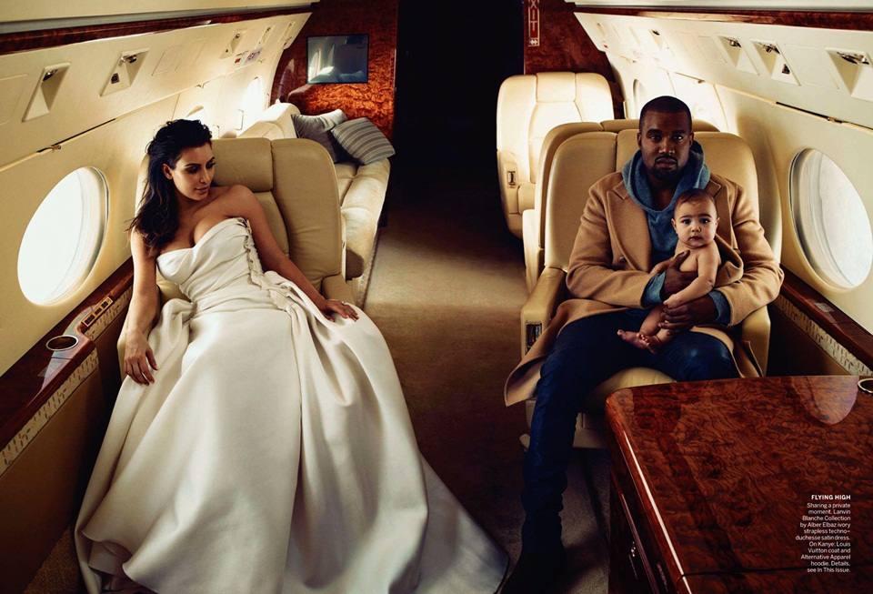 Kim Kardashian & Kanye West @ Vogue US April 2014