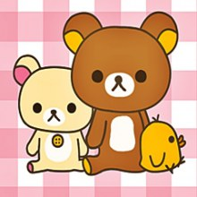 Rilakkuma iphone+android-Wallpapers-Backgrounds ภาพพื้นหลัง พักหน้าจอ No.4