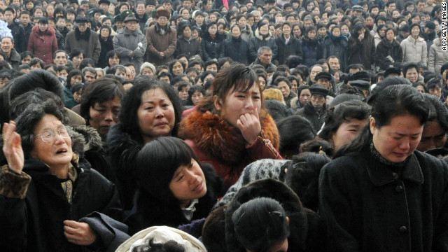 ชาวเกาหลีเหนือร้องไห้