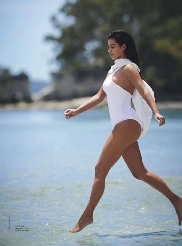 Kim Kardashian @ Vogue Australia February 2015