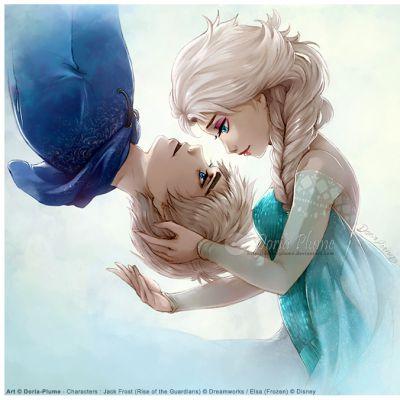 CUTE 132 - Jack Frost ❤ Elsa Frozen