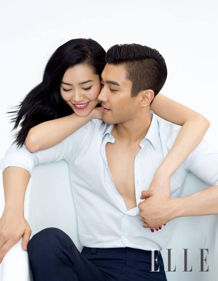 Siwon & Liu Wen @ ELLE China June 2015