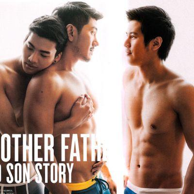 ภาพแฟชั่นหนังเกย์เรท 20+ Father & Son จากนิตยสาร Attitude