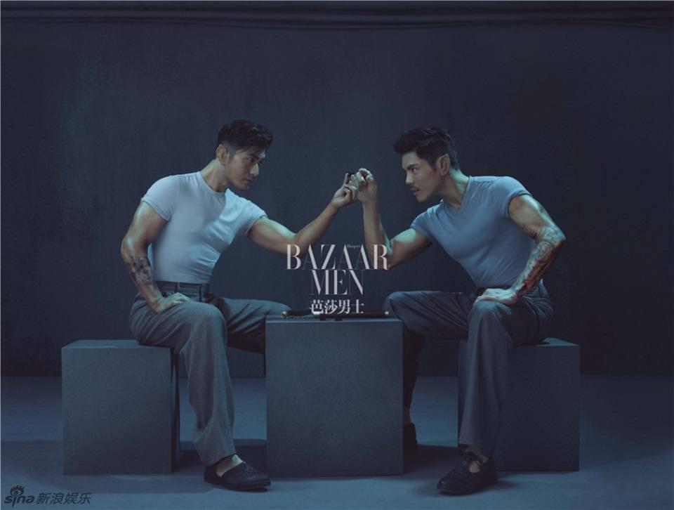 Huang Xiaoming & Jacky Heung @ Harper's Bazaar Men's Style China June 2016