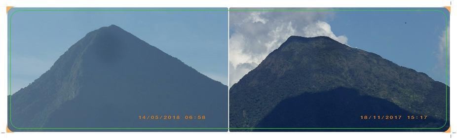 ซ้าย เห็นยอดเดียว ที่ อ.ช้างกลาง ขวา เห็น ๒ ยอด ที่อ.นาบอน