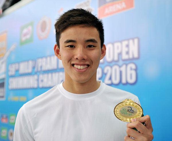 นักว่ายน้ำทีมชาติมาเลเซีย Welson Wee Sheng Sim(ตามติด SEA GAMES 2017)