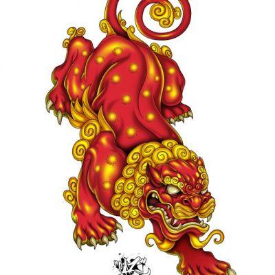 ความยิ่งใหญ่ ของศิลปะจีน การเขียนภาพ   สิงโต - ปี่เซียะ