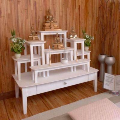 รวมรูปการจัดวางโต๊ะหมู่บูชา ในบ้านยุคใหม่ ตั้งยังไงให้ดูโมเดิร์นทั้งในห้องพระ ห้องทำงาน คอนโด