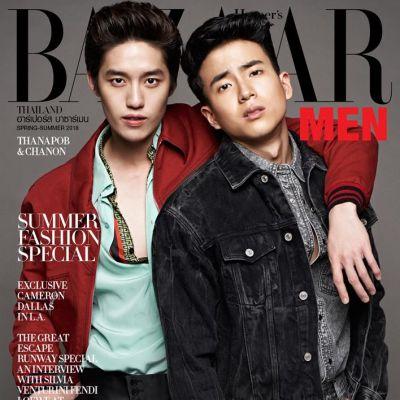 ต่อ ธนภพ & นน ชานน @ Harper's Bazaar Men Thailand S/S 2018
