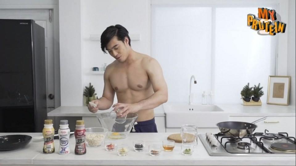 พี่กฤษฎิ์มาสอนทำอาหาร #กล้ามเน้นๆ