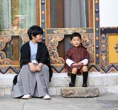 เจ้าชน้อยภูฏานและเจ้าชายน้อยญี่ปุ่น.
