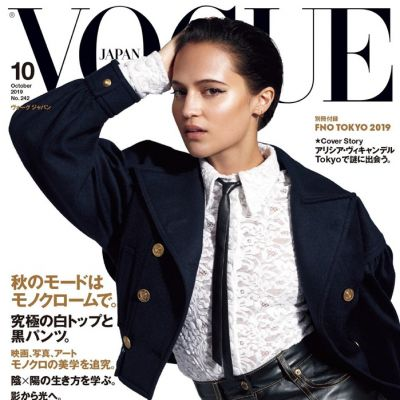 Alicia Vikander @ Vogue Japan October 2019